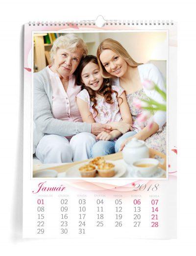 Kalendár z vlastných fotiek A3 - šablóna 6