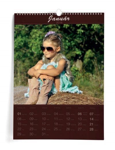 Kalendár z vlastných fotiek A3 - šablóna 9