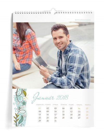 Kalendár z vlastných fotiek A3 - šablóna 12