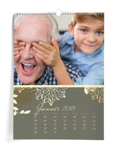 Kalendár z vlastných fotiek A3 - šablóna 14