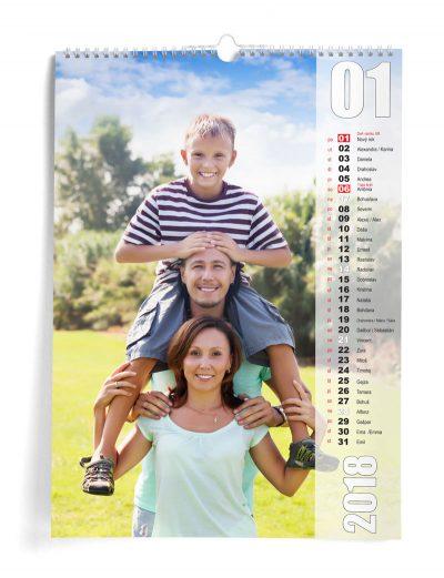 Kalendár z vlastných fotiek A3 - šablóna 17
