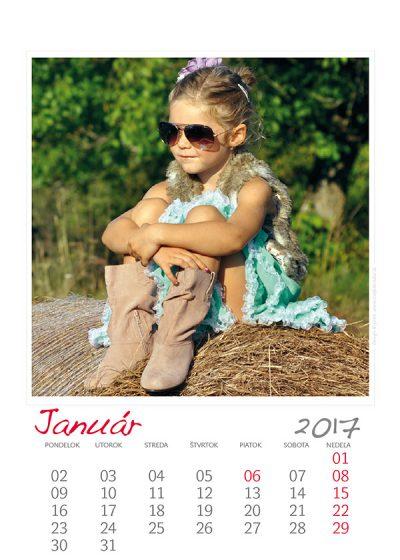 Kalendár z vlastných fotiek - šablóna č. 1
