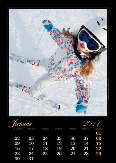 Kalendár z vlastných fotiek - šablóna č. 2