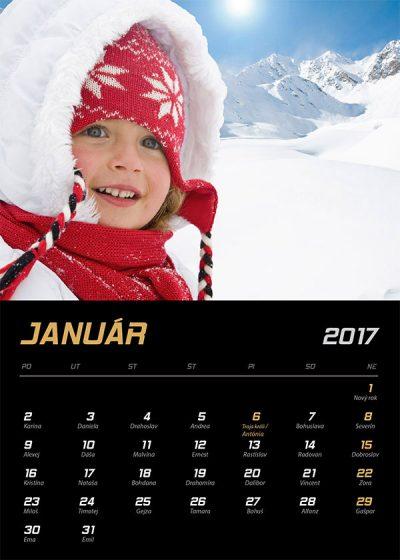 Kalendár z vlastných fotiek - šablóna č. 4