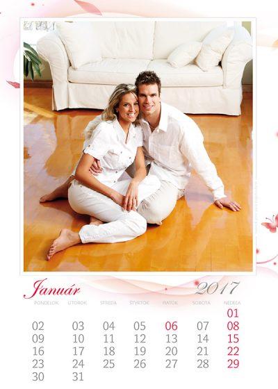 Kalendár z vlastných fotiek - šablóna č. 6