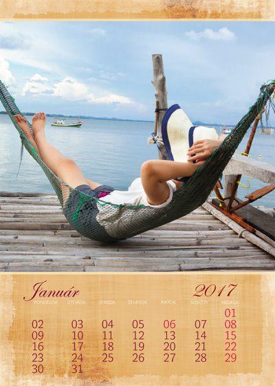 Kalendár z vlastných fotiek - šablóna č. 7