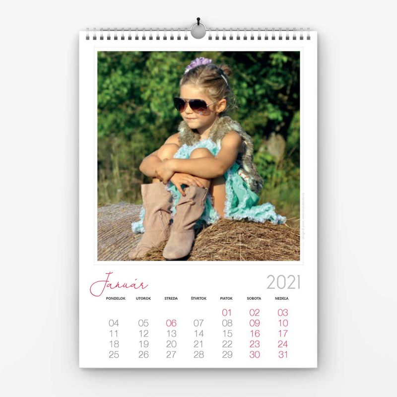 Nástenný kalendrá z vlastných fotiek - šablóna č. 1