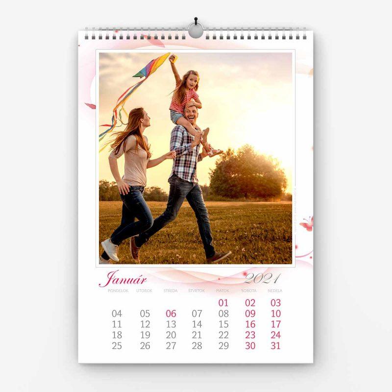 Nástenný kalendár z vlastných fotiek - šablóna č. 06