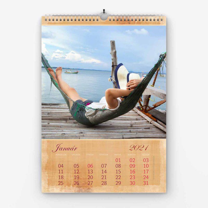 Nástenný kalendár z vlastných fotiek - šablóna č. 07