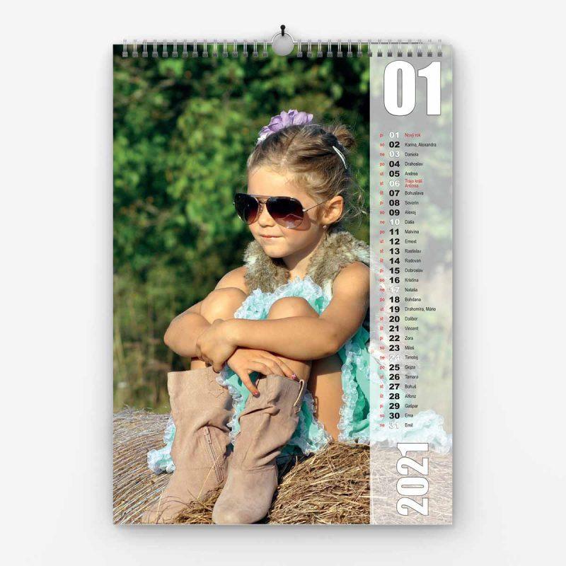 Nástenný kalendár z vlastných fotiek - šablóna č. 17