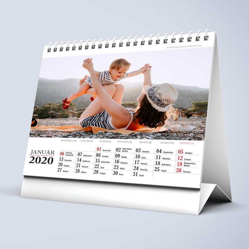 Stolový kalendár z vlastných fotiek