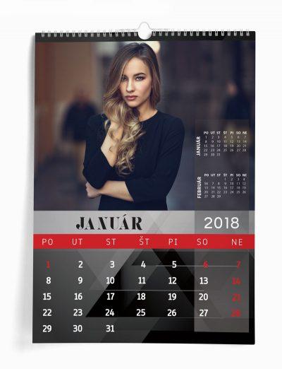 Nástenný kalendár z vašich fotografií šablóna 18