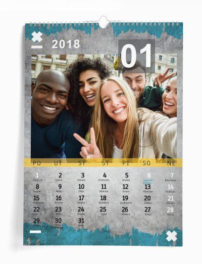 Nástenný kalendár z vašich fotografií šablóna 19