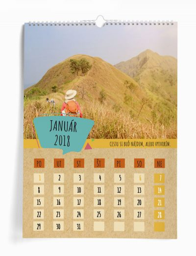 Nástenný kalendár z vašich fotografií šablóna 20