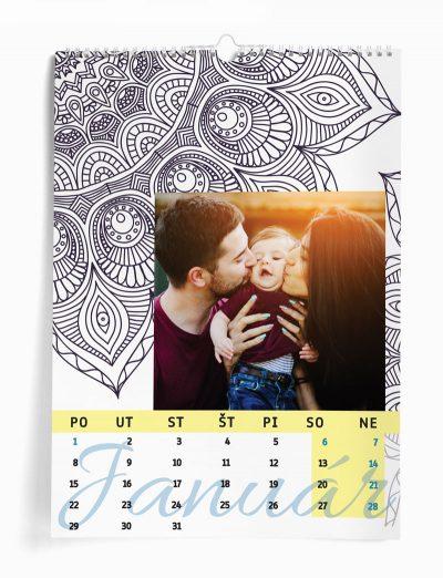 Nástenný kalendár z vašich fotografií šablóna MANDALA