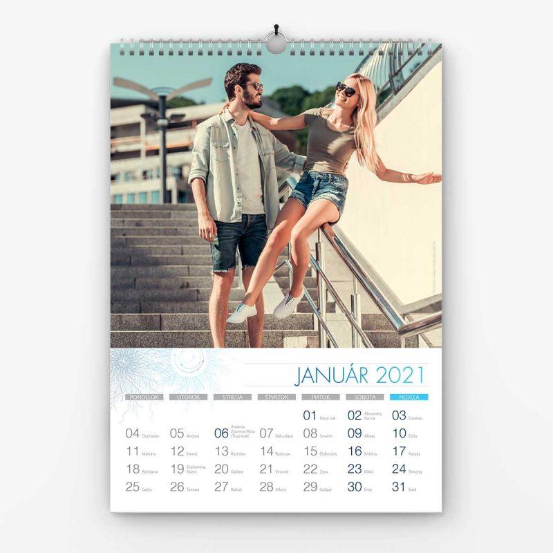 Nástenný kalendrá z vlastných fotiek - šablóna č. 8