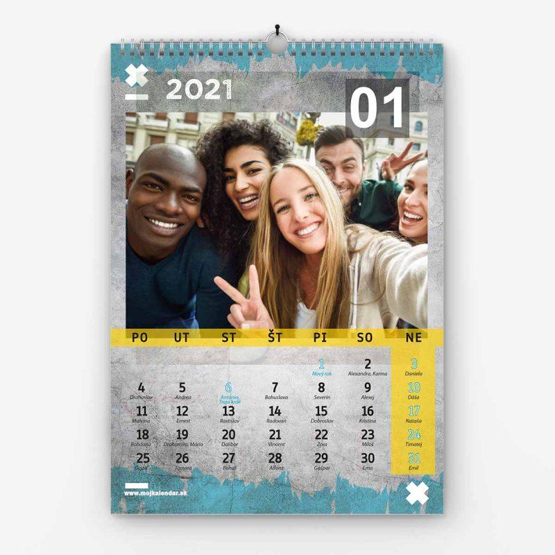 Nástenný kalendár z vlastných fotiek - šablóna č. 19