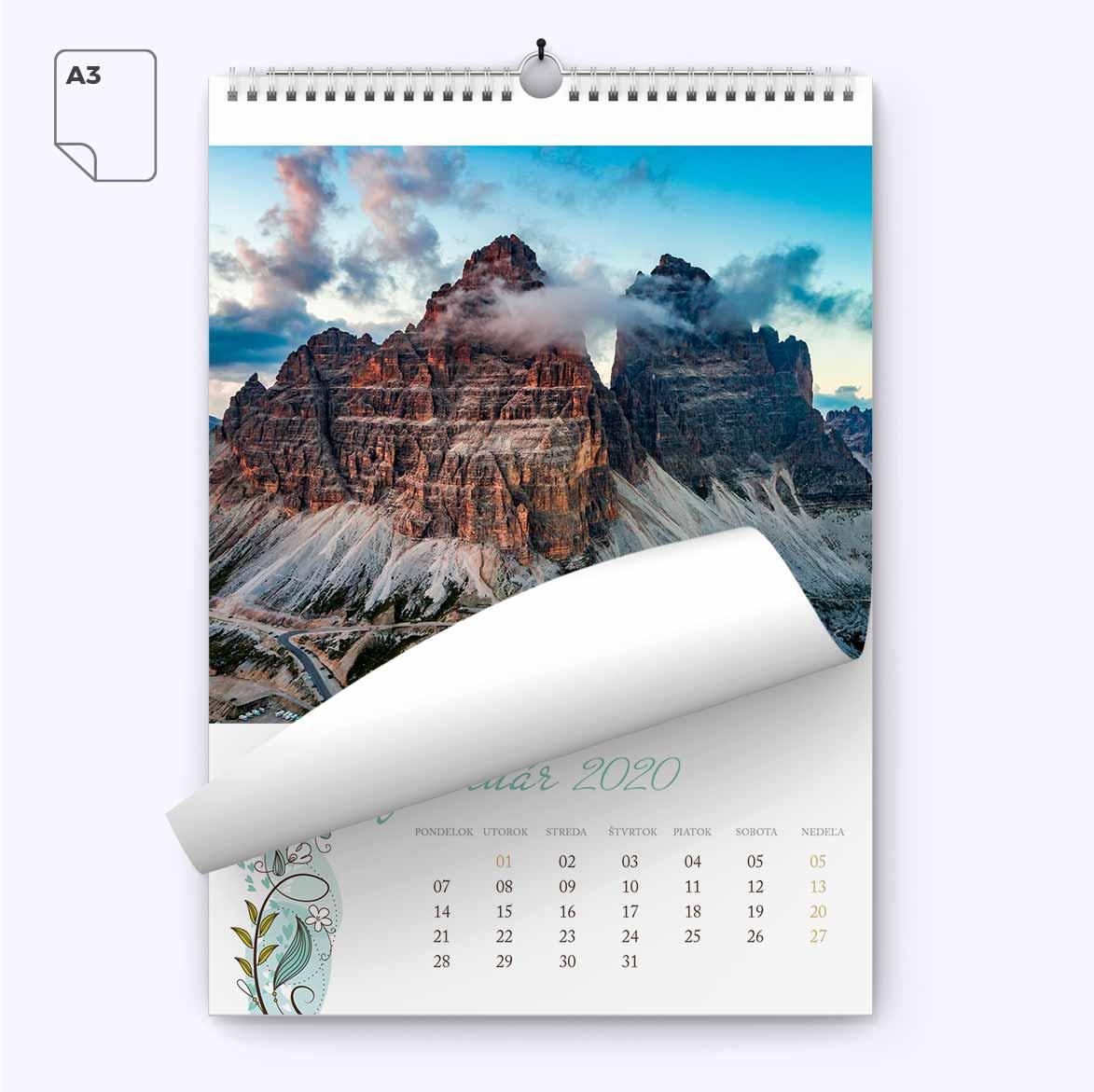 Nástenný kalendár z vlastných fotiek A3