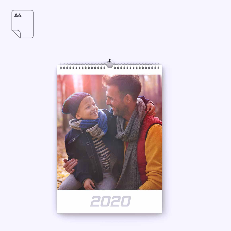 Nástenný kalendár z vlastných fotiek - formát A4