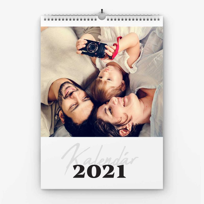 Nástenný kalendrá z vlastných fotiek - šablóna č. 24