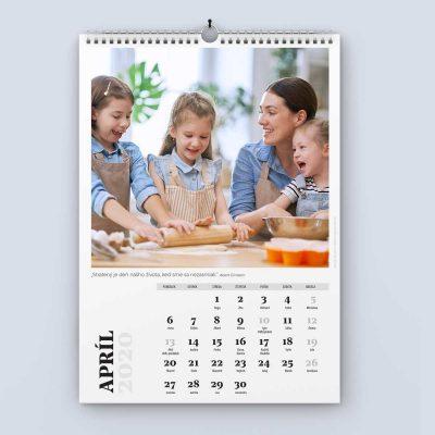 Nástenný kalendár šablóna 24 - apríl