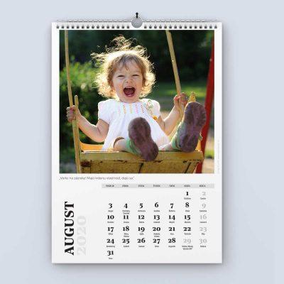 Nástenný kalendár šablóna 24 - august