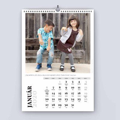 Nástenný kalendár A3 - šablóna 24 - január