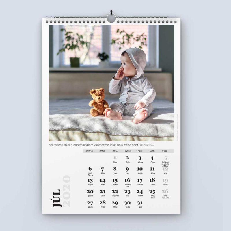 Nástenný kalendár šablóna 24 - júl