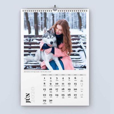 Nástenný kalendár šablóna 24 - jún