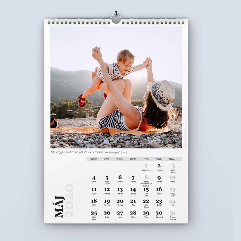Nástenný kalendár šablóna 24 - máj