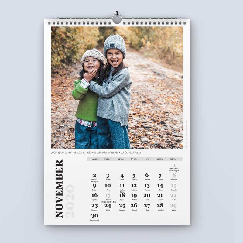 Nástenný kalendár šablóna 24 - november