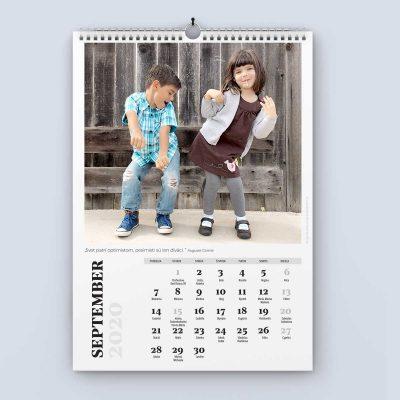 Nástenný kalendár šablóna 24 - september
